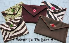Welcome to The Hollow: Sew a Small Envelope Pouch Tutorial