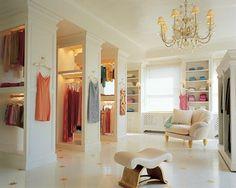 Big white closet!