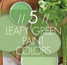 5 LEAFY GREEN PAINT COLORS and where to get them.