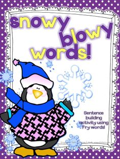 FREE This unit is a mini activity to help students build correct sentences using penguin word cards. Very fun to use, especially in winter or to add to a unit about penguins. Wishing you a lovely winter! Sea of Knowledge