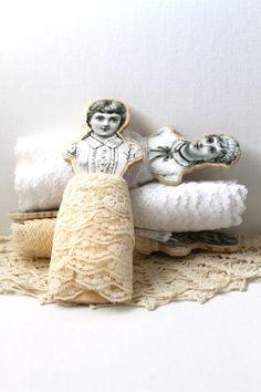 Wooden Lace Organizer Spools Handmade Vintage by creativecarmelina, $32.00