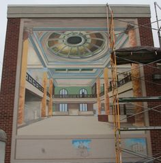 progress on the library mural 6/27/13
