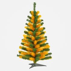 #Baylor Tree Green & Gold 3' Tinsel Artificial Christmas Tree