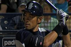 Ichiro at home in dome for first exhibition...3/25/12