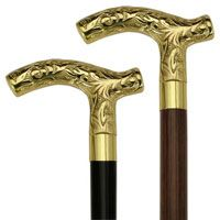 Brass Embossed Derby handle walking cane - Walking canes and Sticks. $48.99