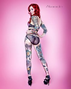 . tattoo modelspinup, robert alvarado, lea vendetta, bodi art, tattoo girl, tattoo hotti, ink girl, tattoo ink, tatoo