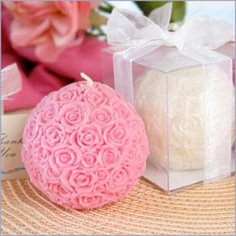 Pretty Rose Ball Candles