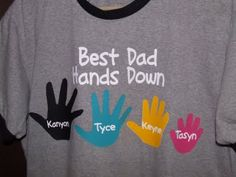 DIY Father's Day Shirt with handprints