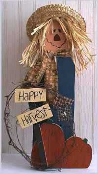 Sticks Scarecrow pattern - Free tole painting pattern