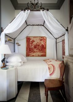 petite bedroom in Furlow Gatewood Southern folly
