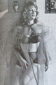 Allison Hayes modelling lingerie, 1950s