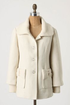 love this ivory coat. #anthropologie