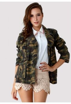 Camouflage Military Jacket by Chic+
