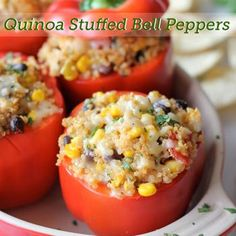 Quinoa Stuffed Bell Peppers Recipe - ZipList If you don't like bell peppers, you can use a tomato instead.