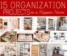 DIY  15 Home Organization Projects to a Happier Home !