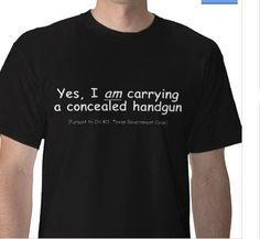 Conceal Carry Badge, T-Shirt:) More