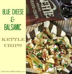 blue cheese and balsamic chips