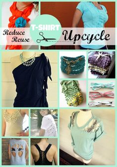 How-to's DIY Tutorials for refashioned T-Shirts