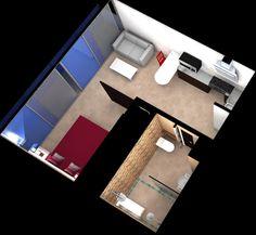Universal design apartment 35m2 on pinterest for 35m2 apartment design