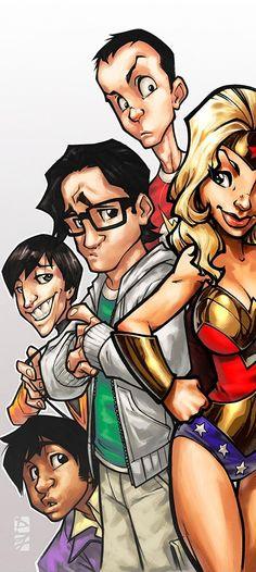 The Big Bang Theory Gang – I would buy the comic. yesss...