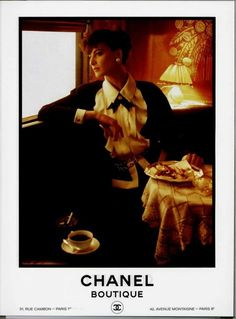 Vintage Chanel ads of the 1980s