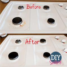 Easy Cooktop Cleaner - DIY Chemical Free Cleaning - DIY Swank - Vinegar & Baking Soda!