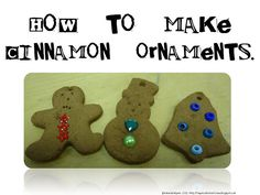 A special kind of class: How to make cinnamon ornaments