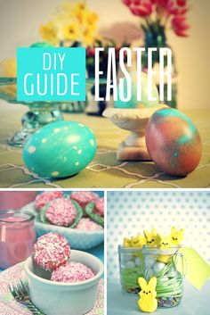 Celebrate Easter with easy decorating ideas, DIY tablescapes and spring-inspired crafts and recipes --> http://www.hgtv.com/easter/package/index.html?soc=pinterest