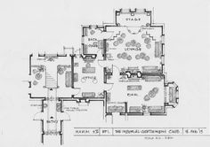 The National Trust of Victoria's 'Labassa' property (in Caulfield, Melbourne) features as the interior of The Imperial Club in 'Murder Most Scandalous' (Series 2, Episode 1). This is an art department sketch of the set. #MissFisher #PhryneFisher #Melbourne #sketch #drawing #behindthescenes