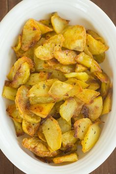 My grandma's legendary Sunday roasted potatoes | browneyedbaker.com #recipe