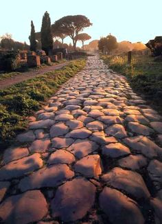 Appian Way, Rome...constructed over 2000 years ago and still in use today.