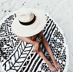 Beach days with the most stylish towel.