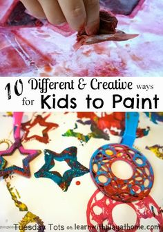 Learn with Play at home: 10 Creative Kids Painting Activities
