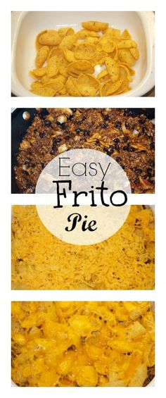 Easy Frito Pie Recipe! Great for Game Day or any day!! So delicious and easy! #superbowl #recipe #easy
