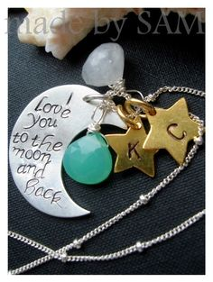 i love you to the moon and back necklace <3 so cute (: