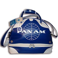 Pan Am Vintage Style Gym Bags  I want. I want. I want.