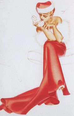 #Vintage & #Retro #Christmas Goodness - RetroLifestyle.com #pinup #illustration #santa #hat #classic