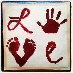 Valentines Day Hand Print Craft....Gia!!!