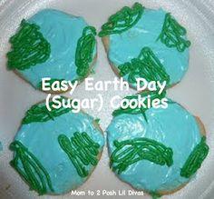 Earth day cookies via www.momto2poshlildivas.com #earthday #preschool #recipes