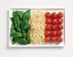 National Flags Created From the Foods Each Country Is Commonly Associated With flag, tomato, australia, art, pasta, basil, food festival, country, italian foods