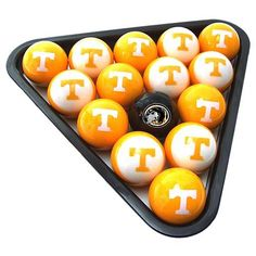 Tennessee Volunteers Billiard Balls Set