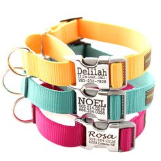 Buckle Martingale Dog Collar - Personalized with 18 Webbing Colors to Choose From on Etsy, $32.00