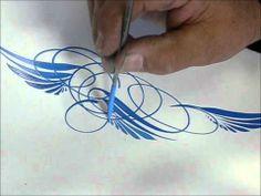 paint slingingpinstrip, wizard scroll, scroll style