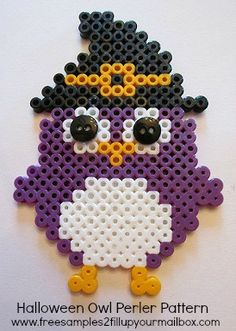 perler beads halloween, halloween owl, hama bead, owl perler beads, halloween perler bead patterns