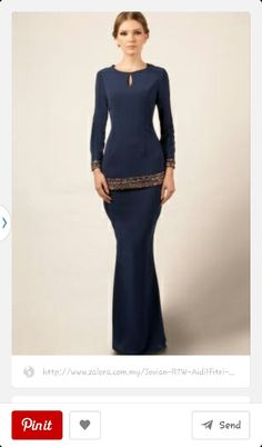 Dark Blue.. kurung moden.. the cutting is awesome More