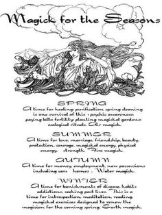 Magick of the Seasons. Follow me @Amber Sheffield Collections . Visit Paranormalcollections.com to see more cool magick stuff.