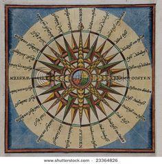 17th century compass rose