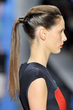 Wrapped Ponytail Hair StyleTrend for Spring Summer 2013.  Reem Acra Spring Summer 2013.   #hair #trends