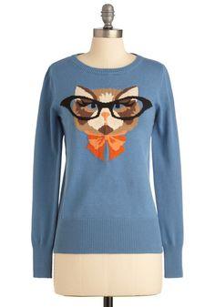 Cat Sweater <3 #NEED #lovesit  via: www.modcloth.com  $99?! though?
