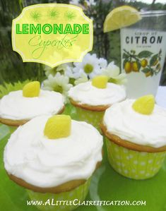 Easy Lemonade Cupcakes with A Little Claireification.com #cupcakes #recipes #desserts @A Little CLAIREification